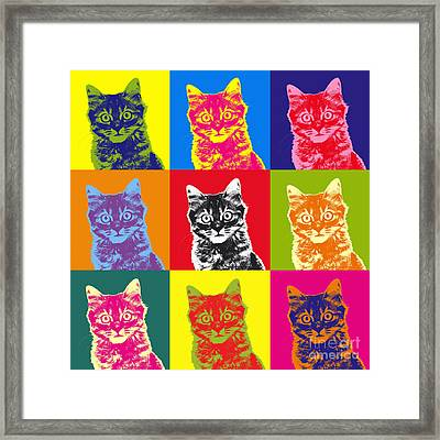 Andy Warhol Cat Framed Print