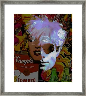 Andy Warhol Collectioin Framed Print by Marvin Blaine