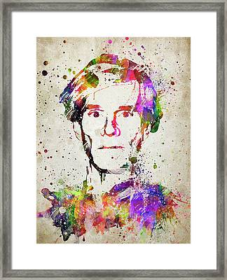 Andy Warhol In Color Framed Print