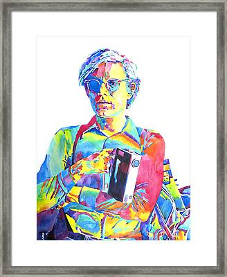 Andy Warhol - Media Man Framed Print by David Lloyd Glover