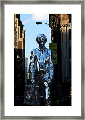 Andy Warhol New York Framed Print by Andrew Fare