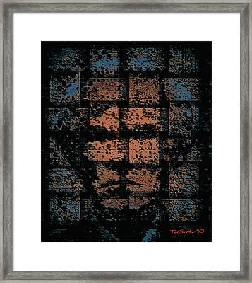 Andy Warhol Weave   Series   Framed Print by Teodoro De La Santa