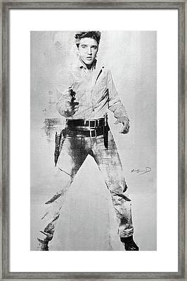Andy Warhol's, Elvis Presley, Silk Screen, Photo Reference From  Flaming Star, Enhanced, Signed  Framed Print