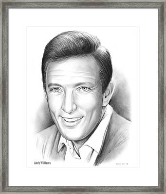 Andy Williams Framed Print by Greg Joens