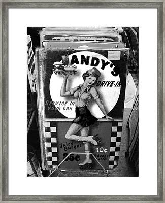 Andy's Drive-in II Framed Print