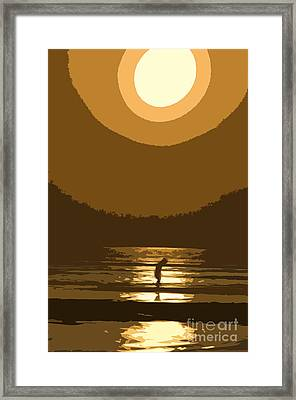 Andy's Sunset Framed Print by Jim  Calarese