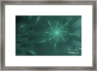 Anemone Framed Print by Sandra Bauser Digital Art