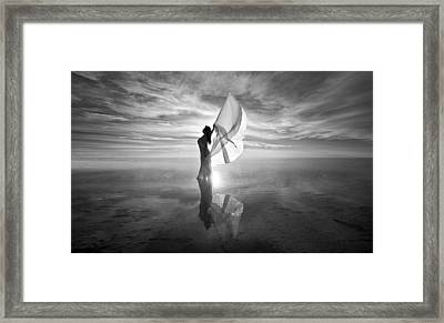 Framed Print featuring the photograph Angel Bw by Dario Infini
