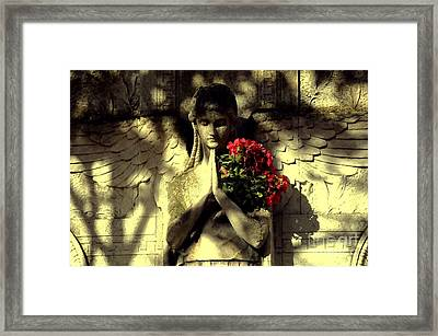Ange Framed Print by Louise Fahy