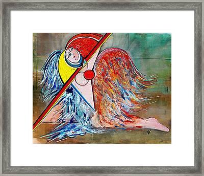 Angel - Study 1 Framed Print by Valerie Wolf