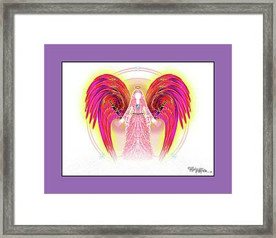 Framed Print featuring the digital art Angel #199 by Barbara Tristan