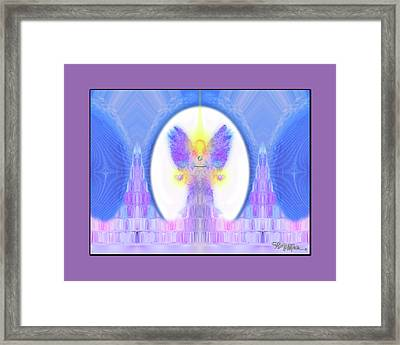 Framed Print featuring the digital art Angel #200 by Barbara Tristan