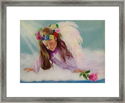 Angel Above Framed Print