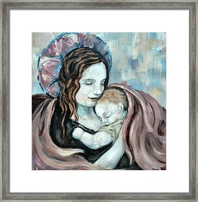 Angel And Baby No. 5 Framed Print