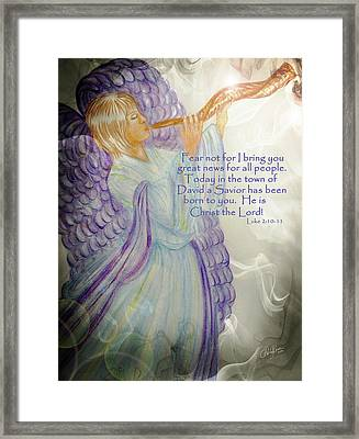 Angel Announcement Framed Print