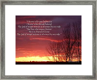 Angel Armies  Framed Print by Diane E Berry