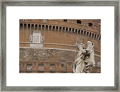 Angel At The Castel Framed Print by JAMART Photography