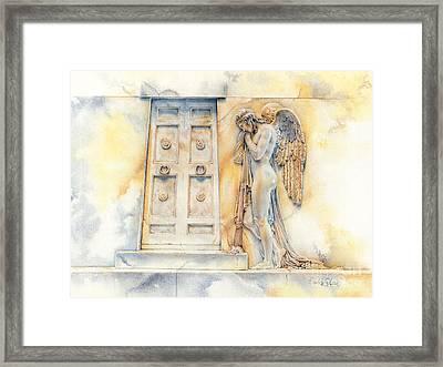 Angel At The Gate Framed Print by David Evans