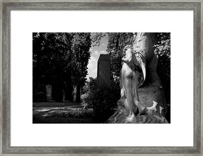 Angel At The Grave Framed Print