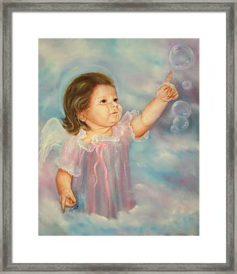 Framed Print featuring the painting Angel Baby by Joni McPherson