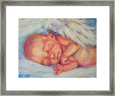 Angel Baby Framed Print by Peggy Wilson