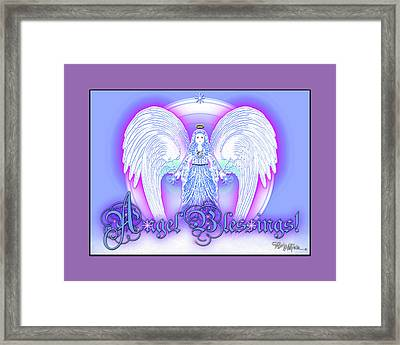 Framed Print featuring the digital art Angel Blessings #196 by Barbara Tristan