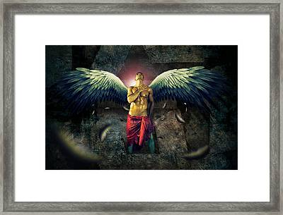 Angel Body Art Framed Print