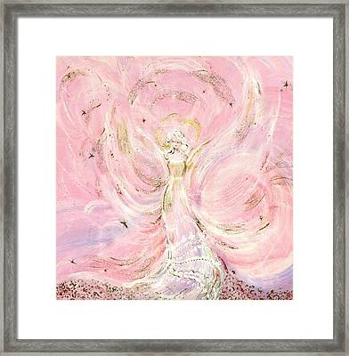 Angel Bride Framed Print by Rosemary Babikan