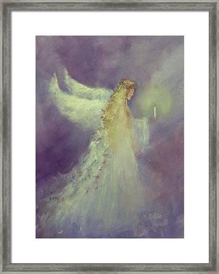 Angel Bright Framed Print by Sally Seago
