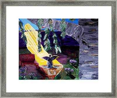 Angel Called Home Framed Print by Karen L Christophersen