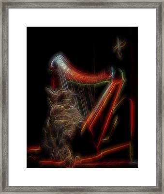 Angel Cat Framed Print by William Horden