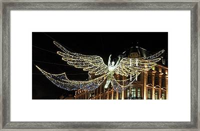 Angel Christmas Lights Regent Street London  Framed Print by Gill Billington