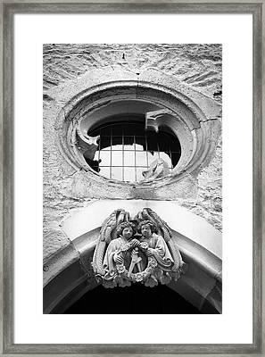 Angel Crest Portal B W  Framed Print by Teresa Mucha