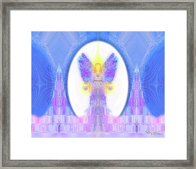 Angel Crystals 444 Framed Print
