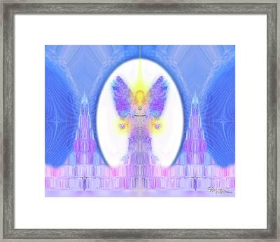 Angel Crystals 444 Framed Print by Barbara Tristan