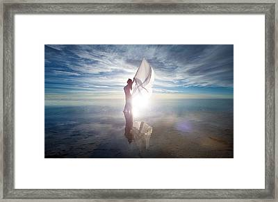 Framed Print featuring the photograph Angel by Dario Infini