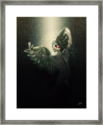 Angel Del Infierno Framed Print by Joaquin Abella
