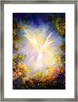 Angel Descending Framed Print by Marina Petro