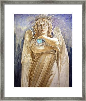 Angel Earth Framed Print by Kathryn Donatelli