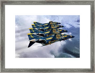 Angel Echelon Framed Print by Peter Chilelli