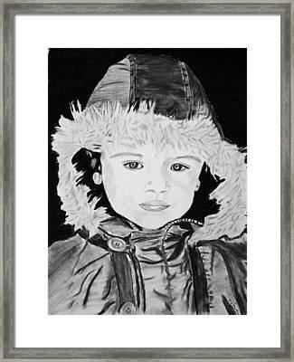 Angel Face Framed Print by Cathy Jourdan
