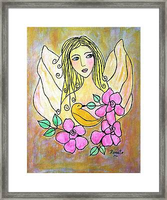 Angel-face Framed Print