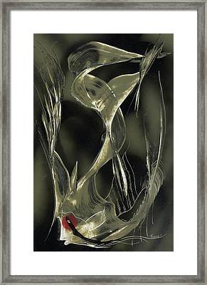 Angel Fish Abstract Framed Print