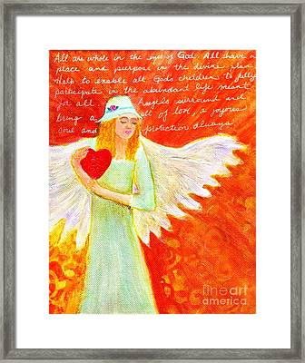Angel For The Mentally Challenged Framed Print