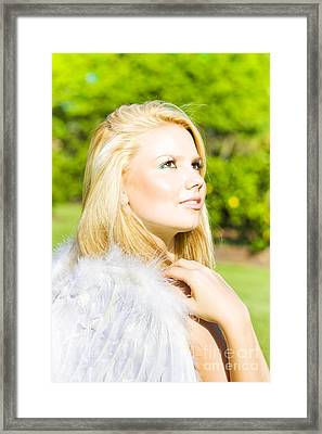 Angel From Heaven Framed Print by Jorgo Photography - Wall Art Gallery