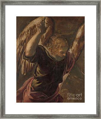 Angel From The Annunciation To The Virgin Framed Print