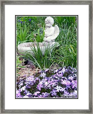Angel Garden Framed Print by Emily Kelley