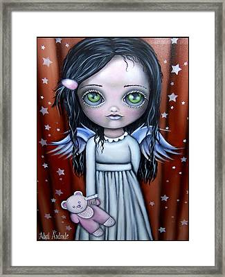Angel Girl Framed Print by  Abril Andrade Griffith