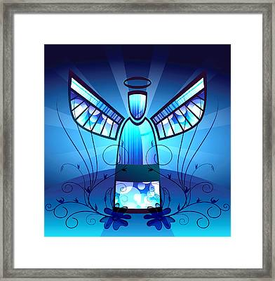 Angel Glass Framed Print