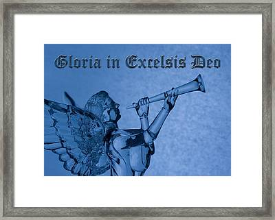 Framed Print featuring the photograph Angel Gloria In Excelsis Deo by Denise Beverly